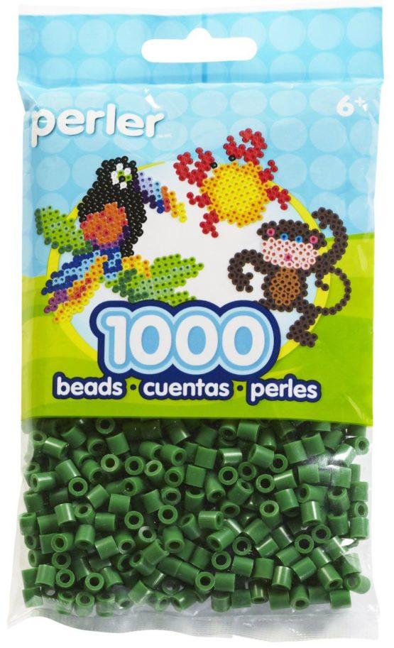 Perler Beads Dark Green Bag