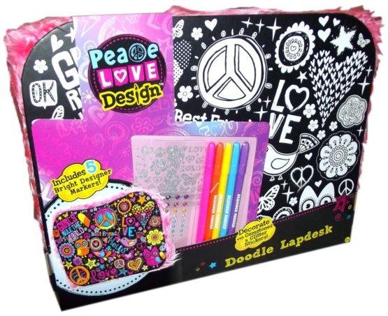 Peace Love Design Doodle Lap Desk