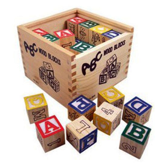 Young Mindz Wooden Alphabet Blocks