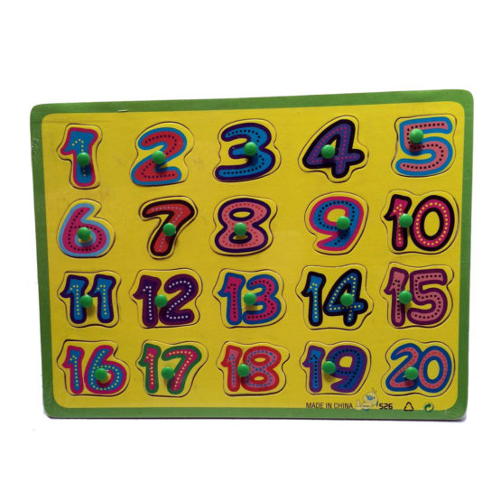 Young Mindz Wooden Numbers Puzzle